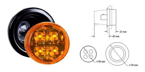 Faro Electronico Redondo Bivoltaje 12v - 24v C/4 Led's Verde
