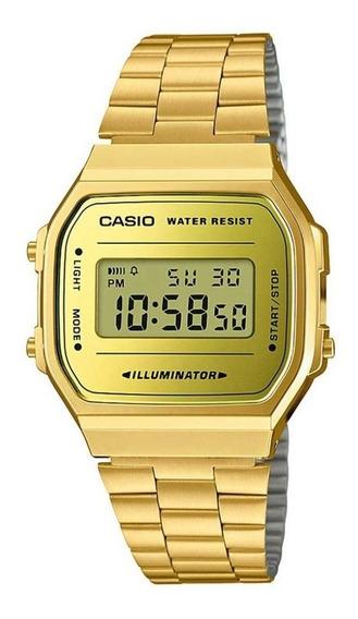 Relógio Casio Unisex Vintage A168wegm-9df Original+ Nf