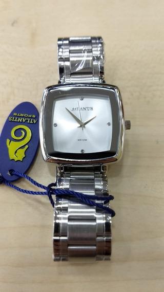 Relógio Original Atlantis Feminino Prata Luxo Com Caixa Nota