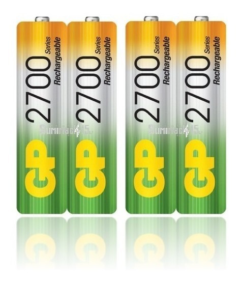 Baterias Recargables Aa Gp Nimh 2700mah Pack De 4