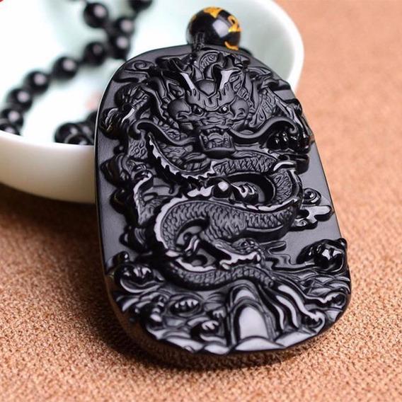 Colar De Obsidiana Chines Autentico Comprado No Hawaii.