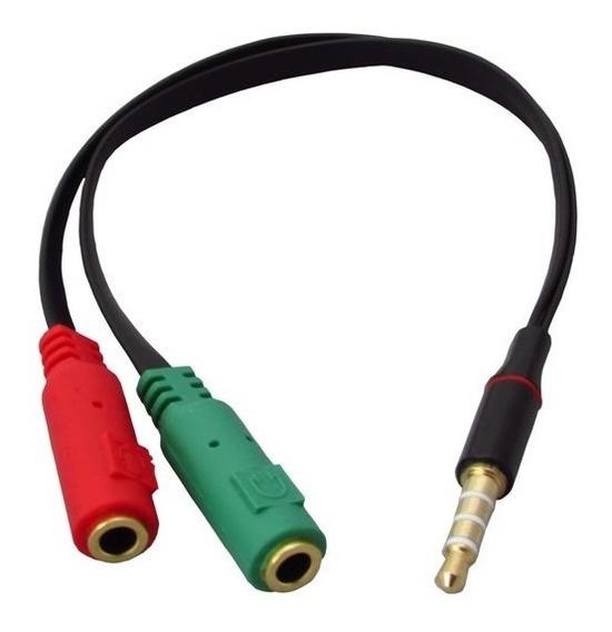 Cabo Unificador P3 Fone E Microfone P2 Macho X 2 P2 Fêmea