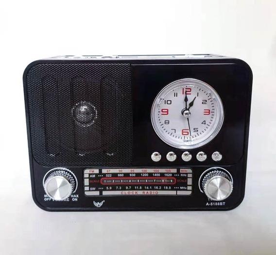 Radio Portátil Bluetooth A5188bt Mp3 Usb Cartão Sd Am Fm
