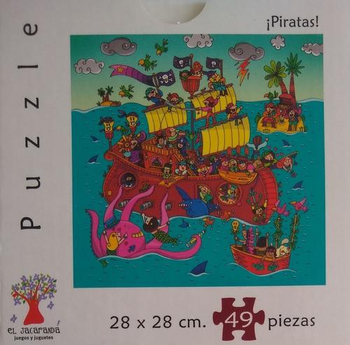 Rompecabezas 49 Piezas Puzzle Piratas Didactikids