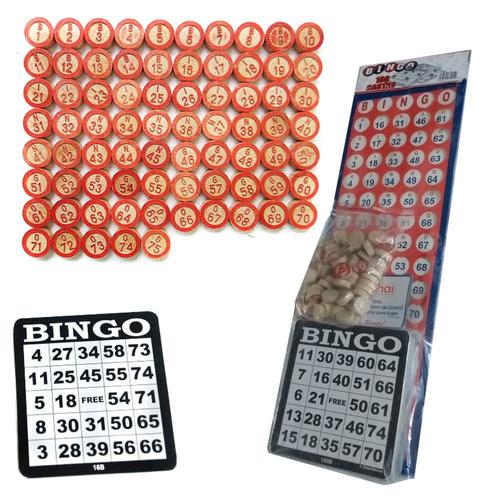 Juego De Mesa Bingo Viajero - Ficha De Madera - 100 Cartones
