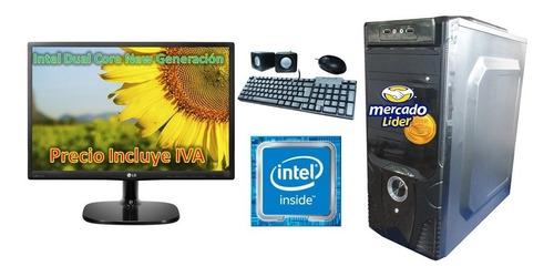 Computadora Cpu Amd Dual Core 500gb 4gb Led 20, I3,i5,i7