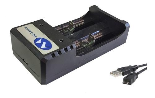 Cargador Universal Megalite Para Bateria Litio 16340 18650