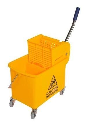 Cubeta Con Exprimidor Y Divisor 20 Litros Amarilla