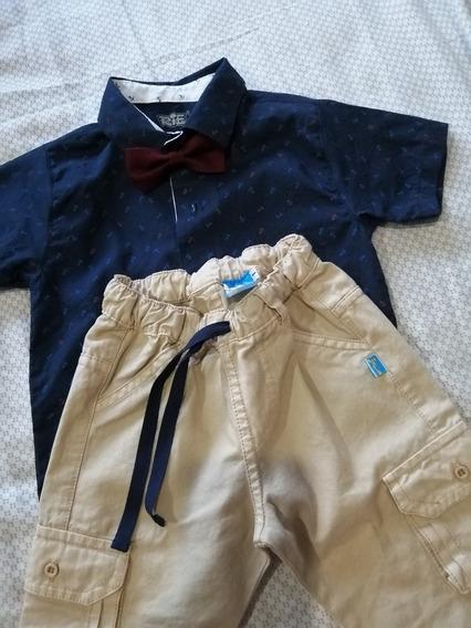 Conjunto Camisa Pantalón Niño Bebe 1 Año