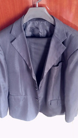 Terno Usado Azul Risca Giz