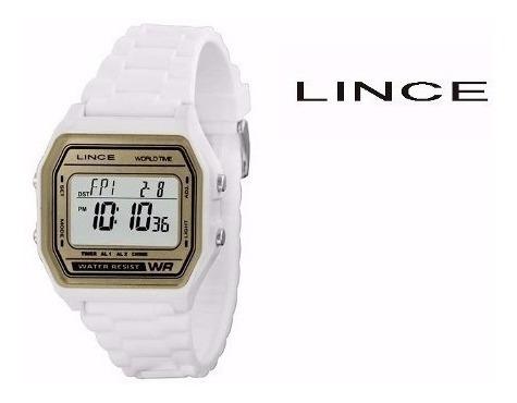 Relógio Feminino Digital Lince Sdpe005-bxbx - Branco 100m