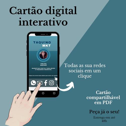 Imagem 1 de 4 de Cartão De Visita Interativo: Digital Personalizado Em Pdf!
