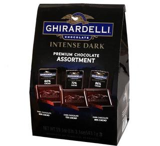 Ghirardelli Cacao Intense Dark. Grande 543gr. 50 Piezas.
