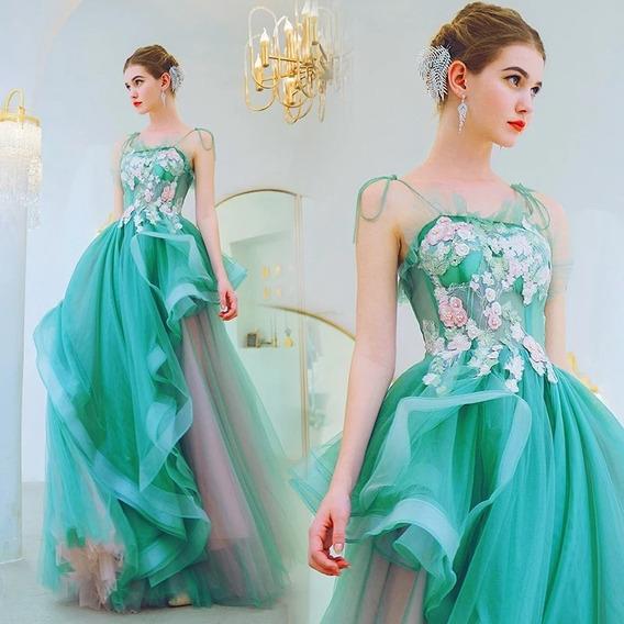 Vestido Xv Años Aqua Vintage Az-190627002