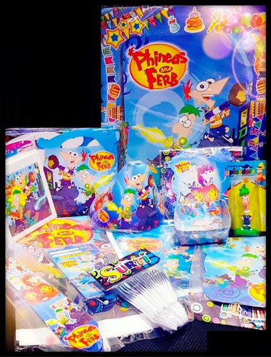 Kit Decoración Piñata Fiesta Infantil Phineas And Ferb