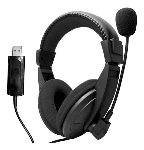 Auricular Usb Con Microfono Pc Gamer Skype Zoom Envios