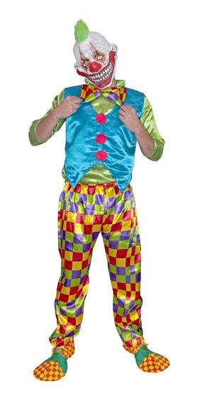 Disfraz Mombo The Clown Payaso Asesino Halloween Latex