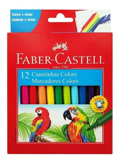 Canetinha Hidrográfica 12 Cores Faber Castell