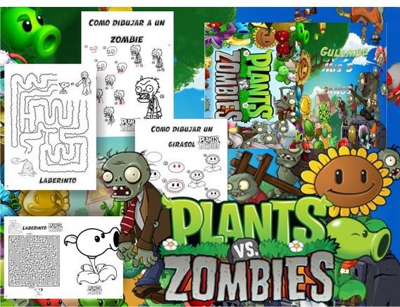 Imagenes Para Colorear De Plantas Vs Zombies Recuerdos Cotillón Y