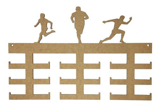 Quadro Medalha Mdf Atletismo - 18 Medalhas