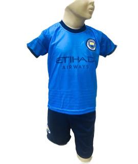 Conjunto Infantil Manchester City Uniforme 2019 G. Jesus