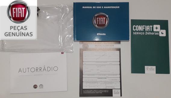 Manual Do Fiat Strada 2014/2015/2016 Em Branco, Original