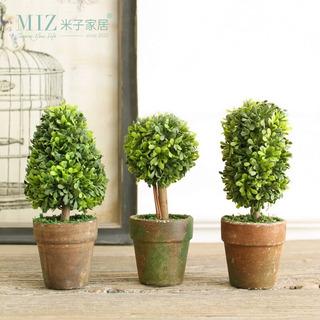 Mini Plantas Artificiales Decoración Planta En Maceta Decora