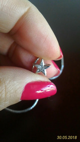 Gargantilha Com Estrela E Diamantes Ouro Branco