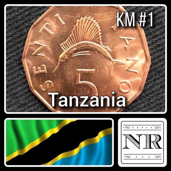Tanzania - 5 Senti - Año 1982 - Km #1 - Pez