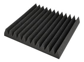 Kit 12 Placas De Espuma Acústica Flat 35mm Anti Chamas