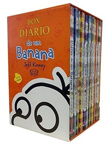11 Livro Coleção Completa Box Diário De Um Banana Jeff Kinne