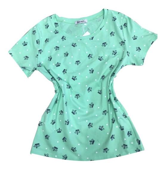 Blusa T-shirt Feminina Baby Look Estampas Coroa Importado