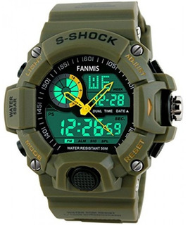 Reloj Deportivo Digital Analógico Militar Fanmis Para Hom