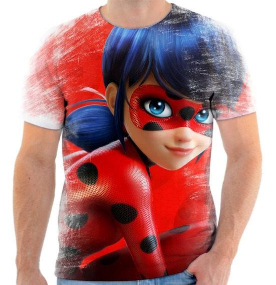 Camiseta Camisa Infantil / Adulto Ladybug Catnoir 4