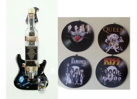 1 Pingometro Porta Pinga Guitarra 4 Discos Enfeite Lazer