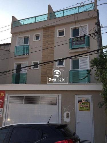 Imagem 1 de 10 de Apartamento Com 2 Dormitórios À Venda, 51 M² Por R$ 300.000,00 - Vila Palmares - Santo André/sp - Ap17348