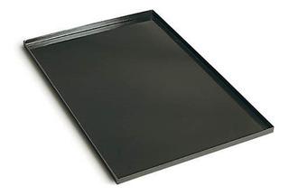 Set 10 Latas Bandeja Panadera Enlozada Negra 70x45x5cm
