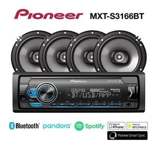 Combo Pioneer Mxt-s3166bt (radio + 4 Parlantes 6.5 )