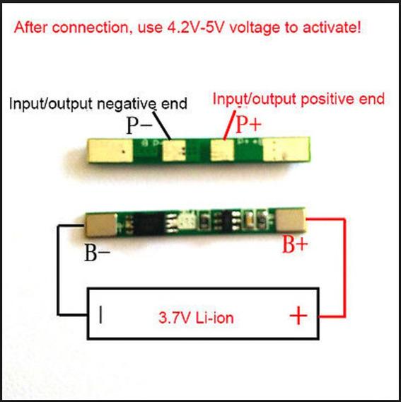 Kit Com 10 Proteção Bms Para Bateria 18650 Li-ion 3.7v