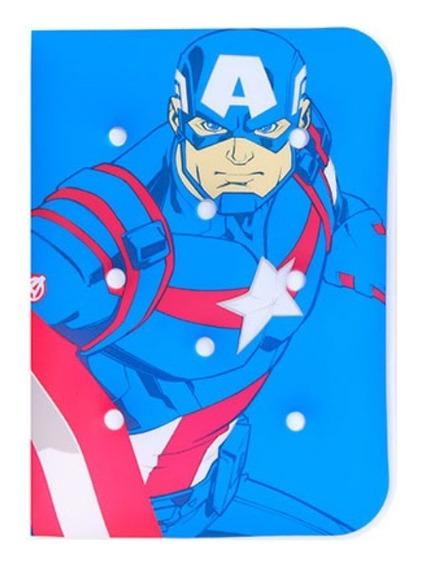 Caderno Capa De Almofada Capitão América - Miniso Marvel