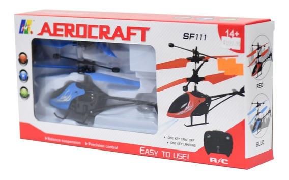 Helicóptero Juguete Doble Hélice A Control Remoto Luces Full