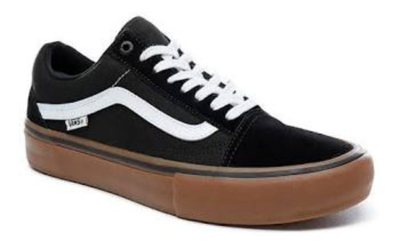 Tenis Vans Old Skool Black/gum Original/ Nota Fiscal