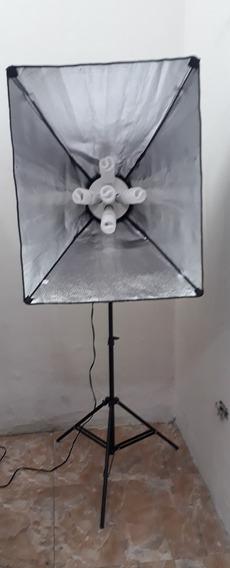 Kit Fotografía Profesional 3 Softbox De 5 Bombillos C/u
