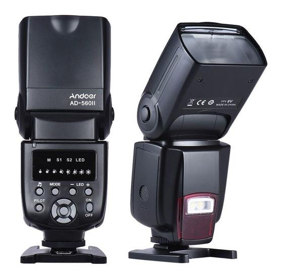 Flash Universal Andoer Ad560 Iv Câmera Dslr Canon Nikon