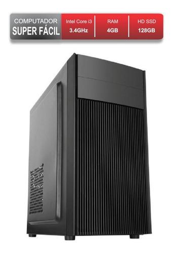 Computador Pc Escritório Faculdade Core I3 Ssd 128gb 4gb Ram