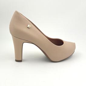 Sapato Scarpin Nude Ramarim Meia Pata 1998102