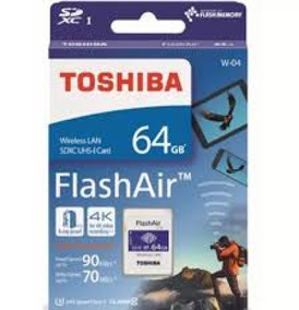 Cartão Memória Sd Wifi Toshiba Flashair 64gb + Lenço Zeiss
