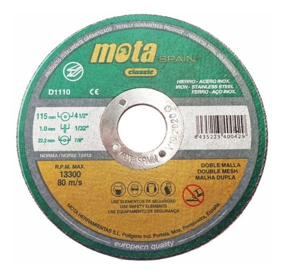 D1110-110 110 Discos Corte Acero Inox 115x1x22 (mm) Mota