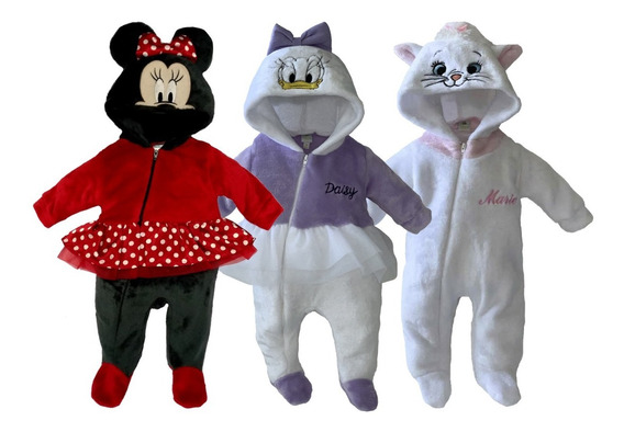 Kit 3 Mamelucos Disney Minnie, Daysi, Marie A Precio De 2