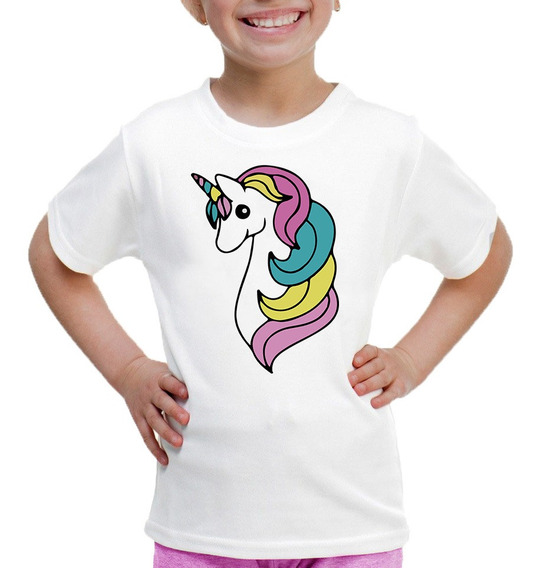 Playera Para Niñas Estampado De Unicornio